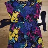 Штапельное платье 11-12 лет.