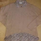 Класснючий свитер обманка от Next.ботал.размер 18/46