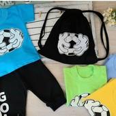 Новинка!!!! Костюм летний,футболка+бриджи+рюкзачек