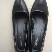 Туфлі 26 см на широкому каблуку