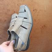 Летние мужские Туфли. Кожа