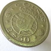 монета Гвинея португальская 2,5 эскудо, 1952