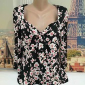 Блуза в цветочный принт, Kaliko, размер XL.