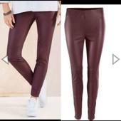 Бомбезные кожаные штаны Esmara евро 38+6 элластичные