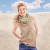 Топ с перфорацией мягенькая замша песочный цвет, Tchibo. Р. евро40 (46-48укр)