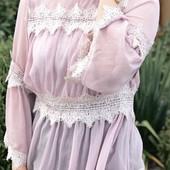 Шикарна сексуальна блуза з кружевами