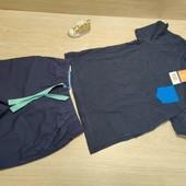 Германия!!! Красивый лот для мальчика! Коттоновая футболка 86/92 и Бермуды 92!