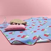 ☘Большой теплый и плотный плед для пикника с защитой от промокания, Tchibo(Германия), 130*150 см