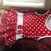 платье на девочку 3-4 годика в крупный горох, тренд!