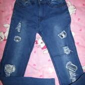 Новые джинсы Венгрия 152р(140р) Нюанс