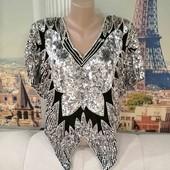 Блуза в виде бабочки, размер L - XL.