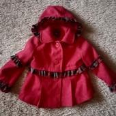Детское новое, шерстяное пальто