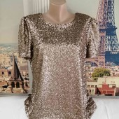 Золотистая блуза, Autograph, размер L - XL.