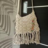 Тренд этого лета - плетённые сумочки! Сумочка крос-боди в отличном состоянии!