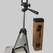 Штатив для селфи раскладной портативный 35-102 см трипод