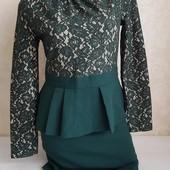 Превосходное платье с красивой баской
