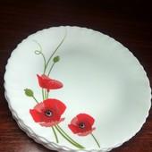 Красивые тарелки- Красный Мак -6 штук,диаметр - 19 см