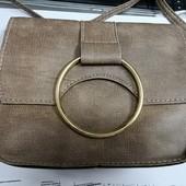 Стильная сумочка кросс-боди черный, коричневый, серая