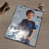 Германия! 1 упаковка из 2 суперовых коттоновых футболок с динозаврами для мальчика! 86/92!