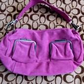 Шикарная сумка цвет фуксия, натуральный замш. Изготовлена для внутр.рынка Кореи