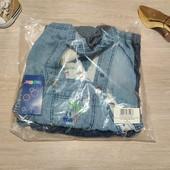 Германия!!! Лот из 2 симпатичных джинсовые комбинезонов шортиками! 68 рост!