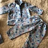 Две байковые пижамы для мальчика 2-3 года