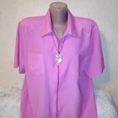 Интересная рубашка на молнии на пышные формы 52-54 размера.