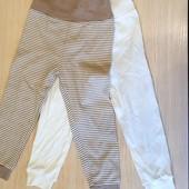 Набор із 2шт штанців для маленьких янголят.бренд lupilu Германія.розмір 74/80