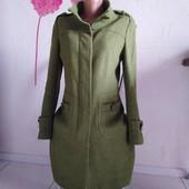 Качественное пальто красивого зелёного цвета! Состояние!+туфли на платформе
