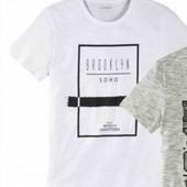 Белая котоновая футболка Livergy 56/58