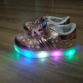 Светящиеся Лед кроссовки для принцессы 24р