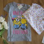 Lupilu яркая качественная пижамка для девочек можно и на улицу) хлопок рост 122-128 6-8 лет.Германия