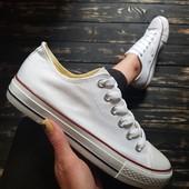 Converse белые кеды! Легкие и удобные! Заканчиваются! Размер 40 - 27 см