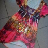 Модненькое √√ Пог 44-48 см √√ мягкое трикотажное платьеце ,без дефектов.