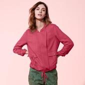 ☘нюанс Куртка-ветровка ягодного цвета в стиле casual Tchibo(Германия), размеры наши: 48-50 (42 евро)