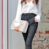 Женские брюки черные, узкие Matmazel, размер 40. Тренд