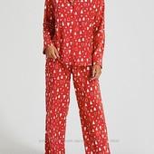 Теплая флисовая пижама или костюм для дома, uk 20-22 размер, евро 48-50