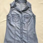 Джинсовая безрукавка и джинсовая рубашка одним лотом!