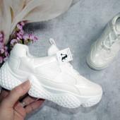 Новинка!!! Новинка!!! Крутые кроссовки белоснежные р.37 и 39