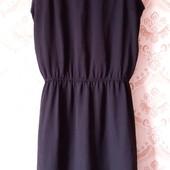 Супер лот! Чёрное шифоновое платье на подкладке р.М. Состояние идеальное!