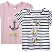 Комплект 2 шт футболочки на девочку Lupilu Германия размер 98/104
