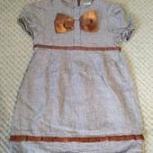 Платье в гусиные лапки с бантом New Point 104р