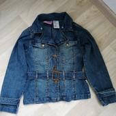 Джинсовая куртка на девочку 9-12 лет!!