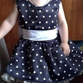 Новое нарядное платье на 1,5-2 годика