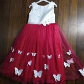 Шикарное бальное платье!) 116-122