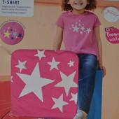 Красивая футболка Lupilu 100 %хлопок (Звёзды меняют цвет от ультрафиолетовых лучей)