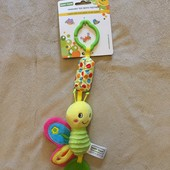 Игрушка-подвеска-колокольчик в коляску с прорезыванием «Бабочка»