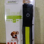 """ошейник светящийся для собаки """"M"""" Zoofari из Германии"""