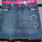 Юбка джинс на 7-9 лет.