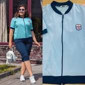 Костюм шорты+кофта-бомбер женский спортивный на лето размер 52-54